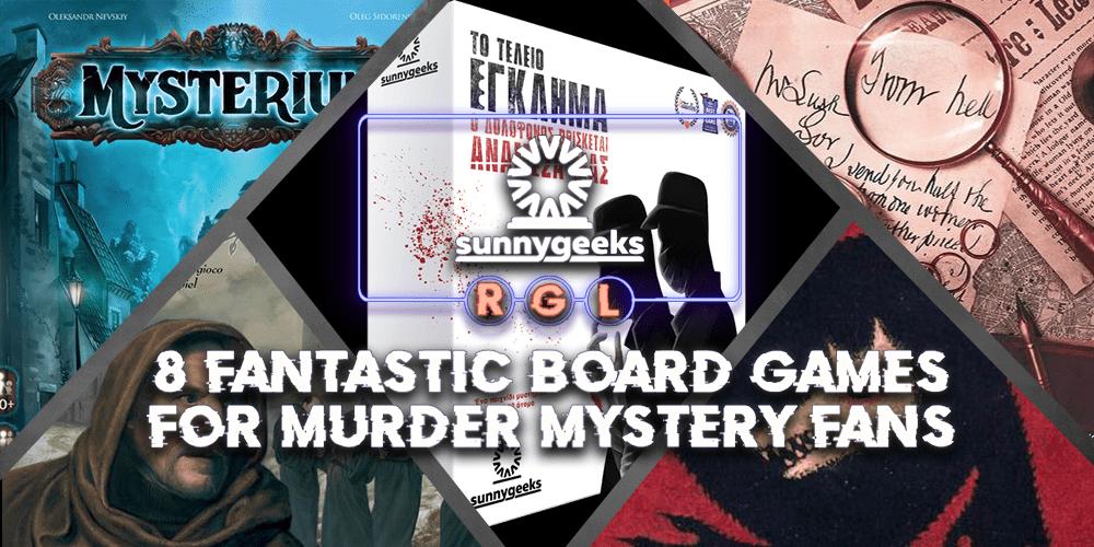 8 Fantastic Board Games for Murder Mystery Fans